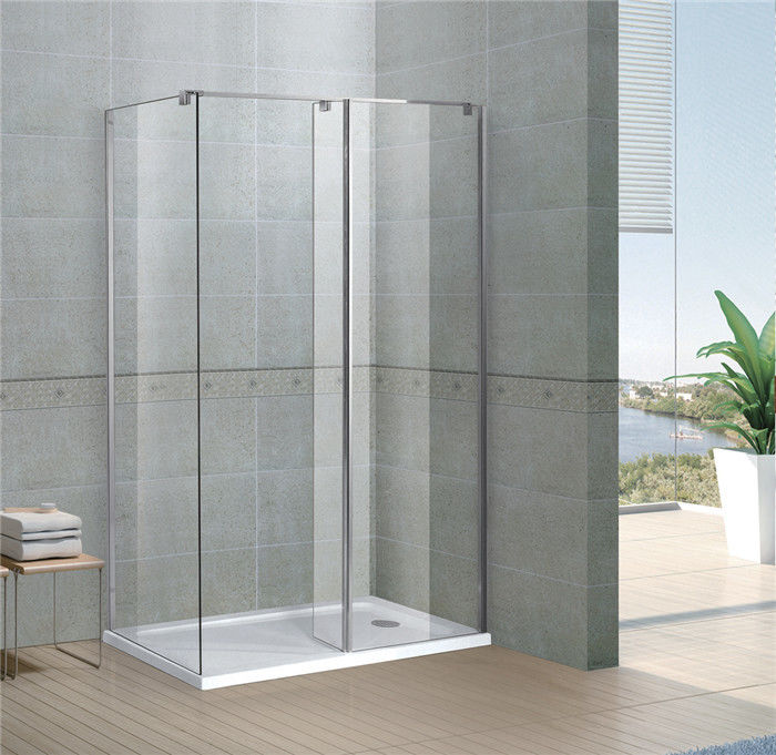 Rectangle Walk In Shower Enclosures 6 / 8 MM Clear Tempered Fixed Glass CE / SGCC Certification