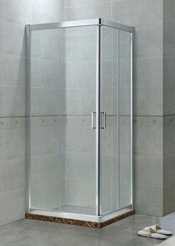 Matte Sliver 8MM Glass Fiberglass Shower Enclosures Aluminum Alloy CE Certification